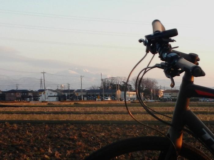 自転車と白山